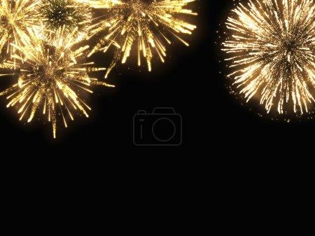 Holiday golden sparks