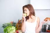 Dietu. Dietu koncept. Zdravé jídlo