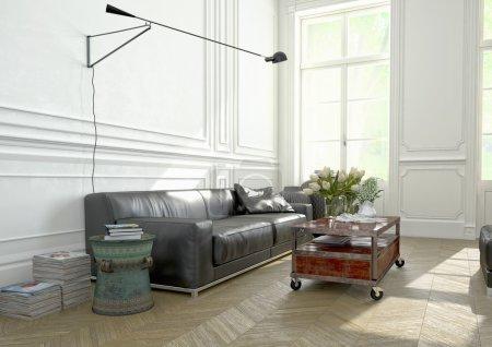 Interior Design, Living room. 3d rendering