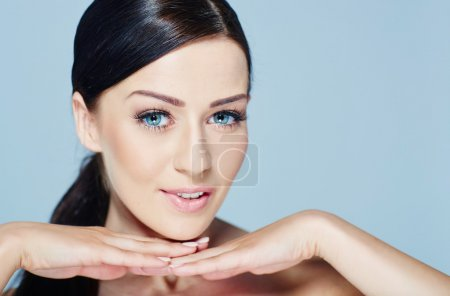 Photo for Beauty Model Girl Portrait . Beautiful Woman Face. Looking at Camera - Royalty Free Image