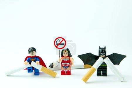 Nonthabure, Thailand - May, 28, 2016: Lego Superman VS Batman No