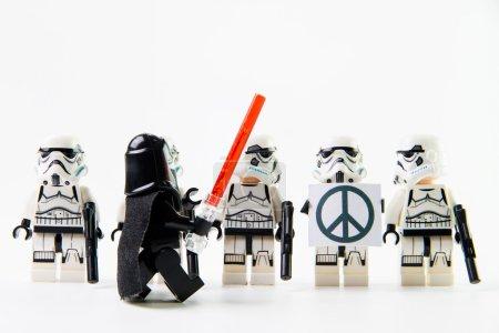 The lego Star Wars movie Stomtrooper mini figures.