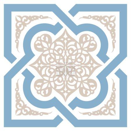 Illustration pour Arrière-plan avec motif sans couture dans un style islamique - image libre de droit