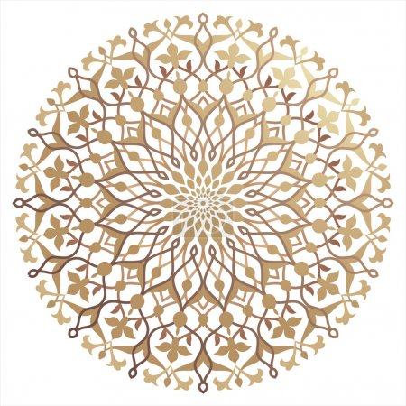 Illustration for Background with traditional  pattern in islamic style - Royalty Free Image