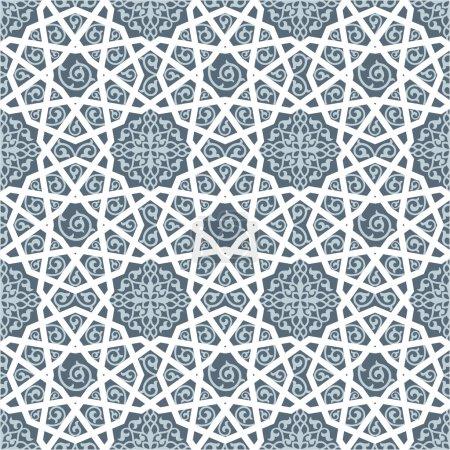 Illustration pour Arrière-plan avec motif sans couture islamique - image libre de droit