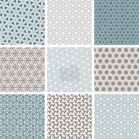 Illustration for Patterns in islamic style for background - Royalty Free Image