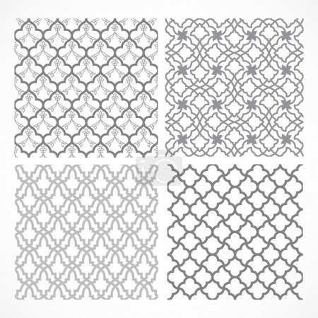 Illustration for Seamless vector arabic patterns for background - Royalty Free Image