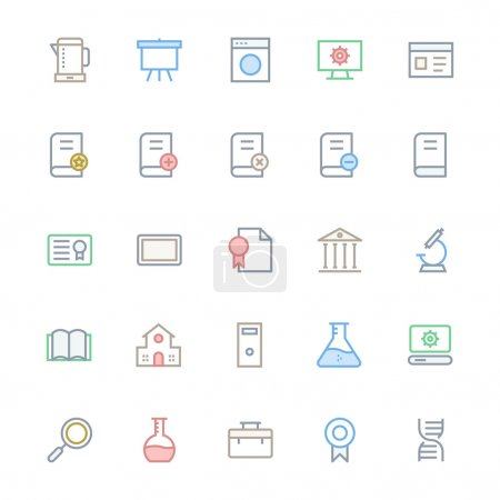 User Interface Colored Line Vector Icons 30