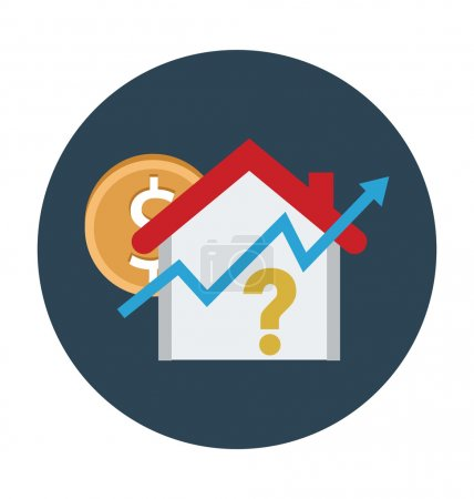 Photo for Real Estate flat colored icon. - Royalty Free Image