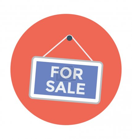 For Sale Sign Colored Illustration