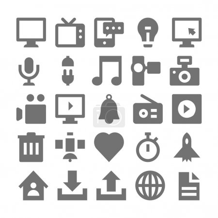 Advertising and Media Vector Icons 1