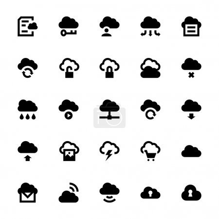 Cloud Data Technology Vector Icons 1