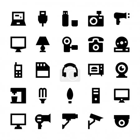 Electronics and Devices Vector Icons 1