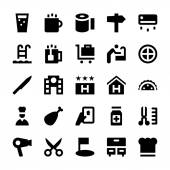 Hotel Services Vector Icons 2