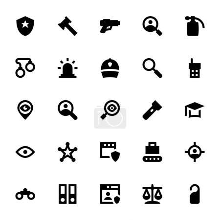 Illustration for Here is a set of Crime and Security Vector Icons that are perfect for your design projects. - Royalty Free Image