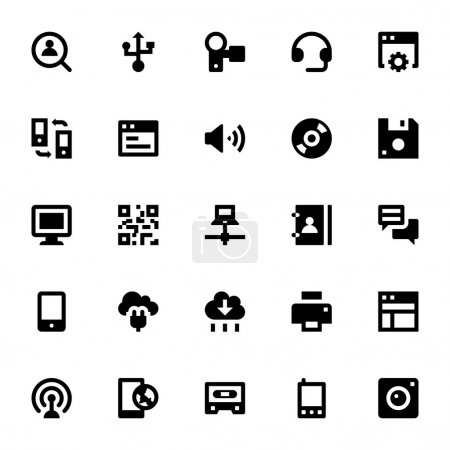 Internet, Networking and Communication Vector Icons 3