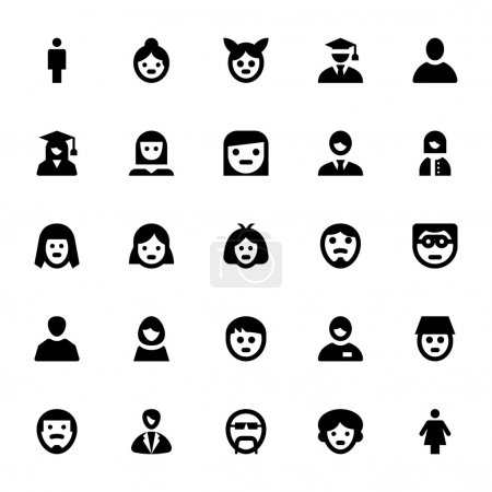 People Avatars Vector Icons 1