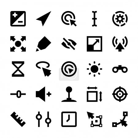 Selection, Cursors, Resize, Move, Controls and Navigation Arrows Vector Icons 3