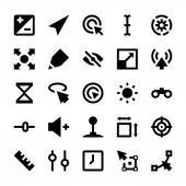 Selection Cursors Resize Move Controls and Navigation Arrows Vector Icons 3