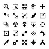 Selection Cursors Resize Move Controls and Navigation Arrows Vector Icons 2