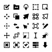 Selection Cursors Resize Move Controls and Navigation Arrows Vector Icons 1
