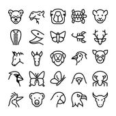 Animals and Birds Vector Icons 6