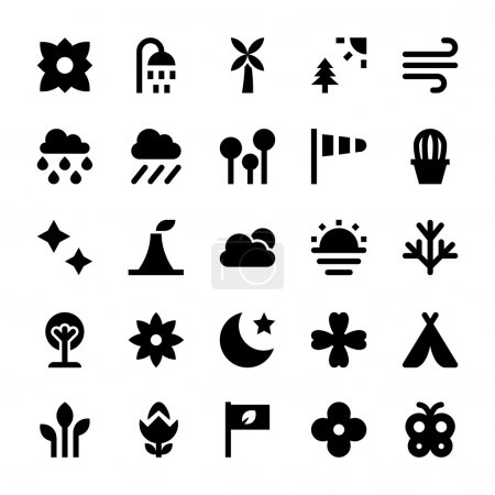 Nature and Ecology Vector Icons 6