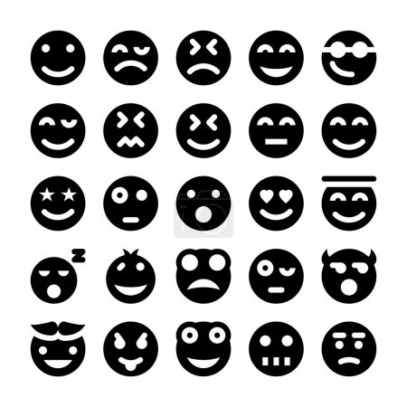 Smiley Vector Icons 1