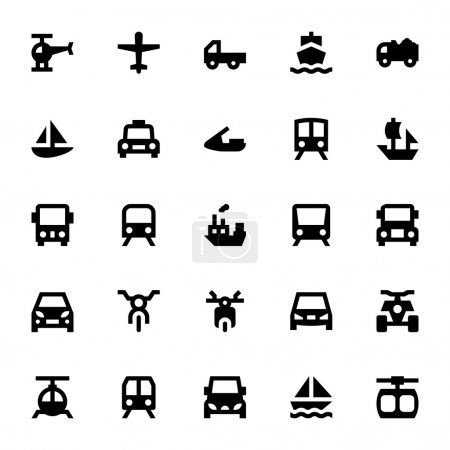 Illustration for Beep beep, Here comes the Transport Vector Pack to offer you anything from plane to train, automobile to boat motorcycles, steam engines, and more - Royalty Free Image