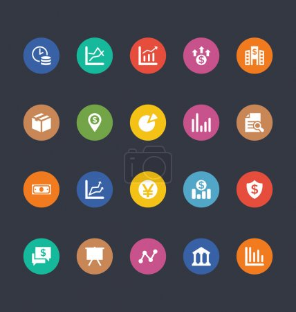 Glyphs Colored Vector Icons 17