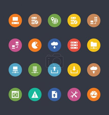 Glyphs Colored Vector Icons 26
