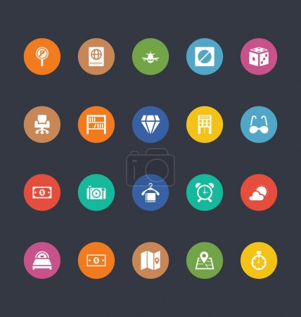 Glyphs Colored Vector Icons 36