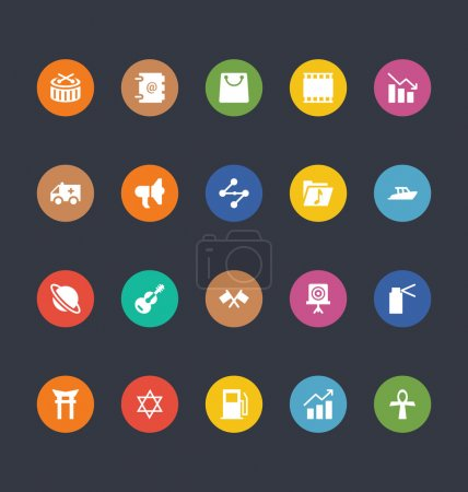 Glyphs Colored Vector Icons 32