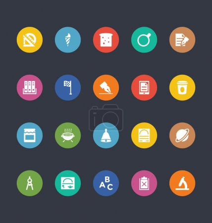 Glyphs Colored Vector Icons 38