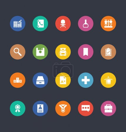 Glyphs Colored Vector Icons 39