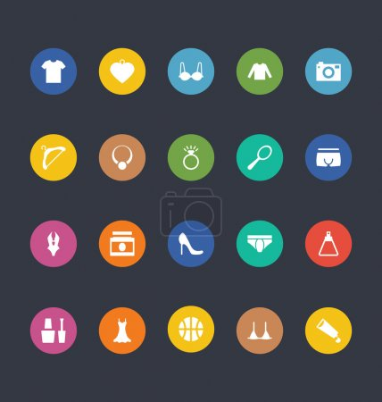 Glyphs Colored Vector Icons 44