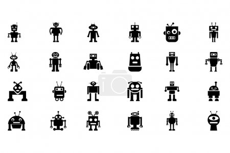Robots Vector Icons 4