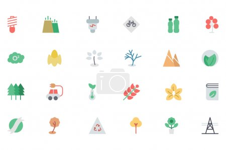 Illustration for Go green and be eco friendly with these brand new Nature and Ecology Colored Vector Icons! You'll love using these vectors in nature, ecology, environment and sustainability related work! - Royalty Free Image