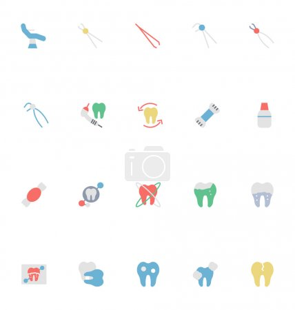 Dental Colored Vector Icons 5