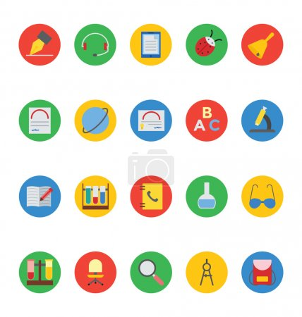 Education Colored Vector Icons 5