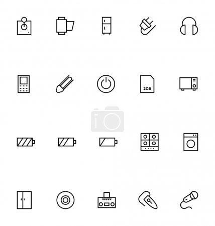 Electronics Stroke Vector Icons 5