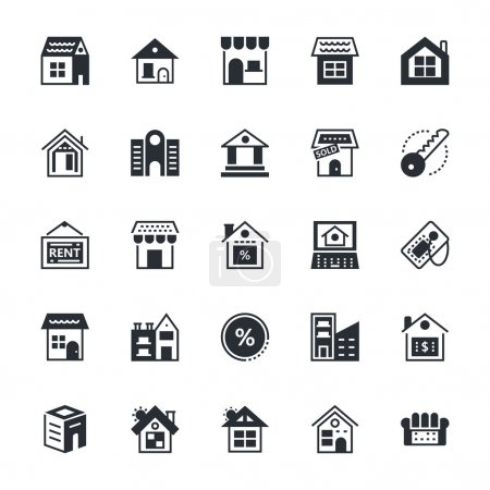 Real Estate Colored Vector Icons 1