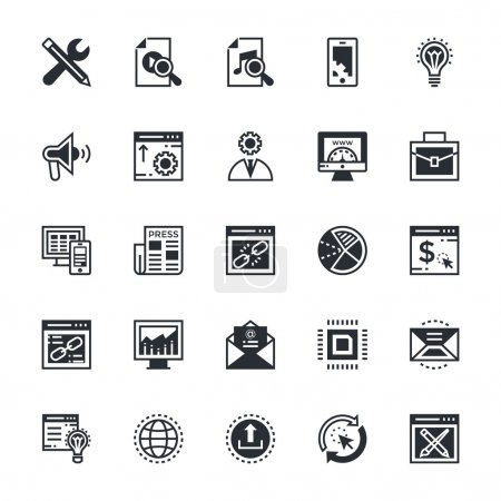 SEO and Marketing Colored Vector Icons 3