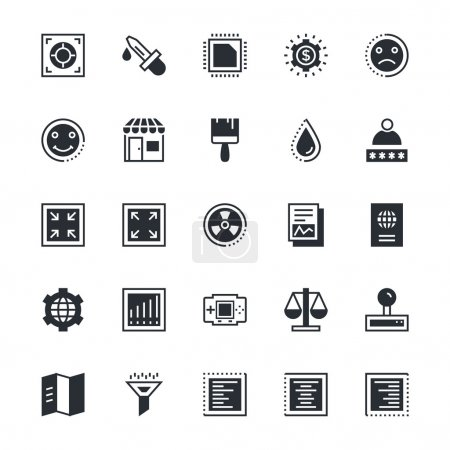 Illustration for We are offering User Interface and Web icons set using for SEO, Web development. Hope you can find a great use for them in your web and interface projects. - Royalty Free Image