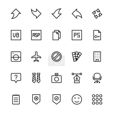User Interface Colored Line Vector Icons 33
