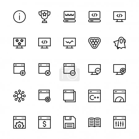 User Interface Colored Line Vector Icons 31