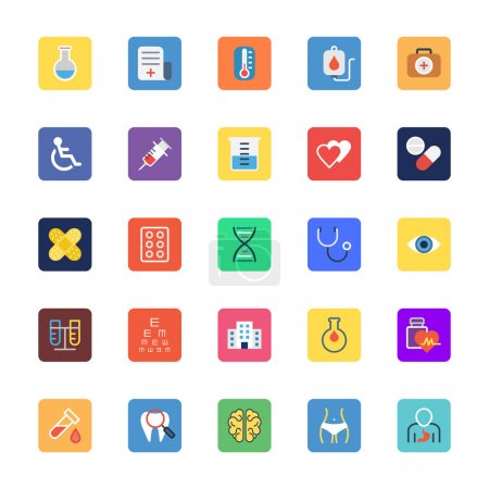 Medical Colored Vector Icons 1