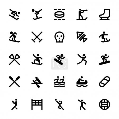 Sports and Games Vector Icons 12