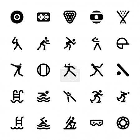 Sports and Games Vector Icons 13