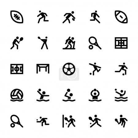 Sports and Games Vector Icons 14